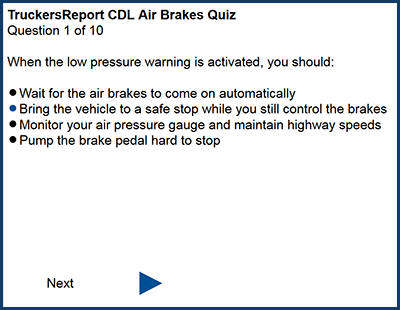 Practice quiz for Air Brakes CDL Test