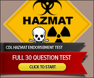 CDL Hazmat Endorsement - Full 30 Question Test