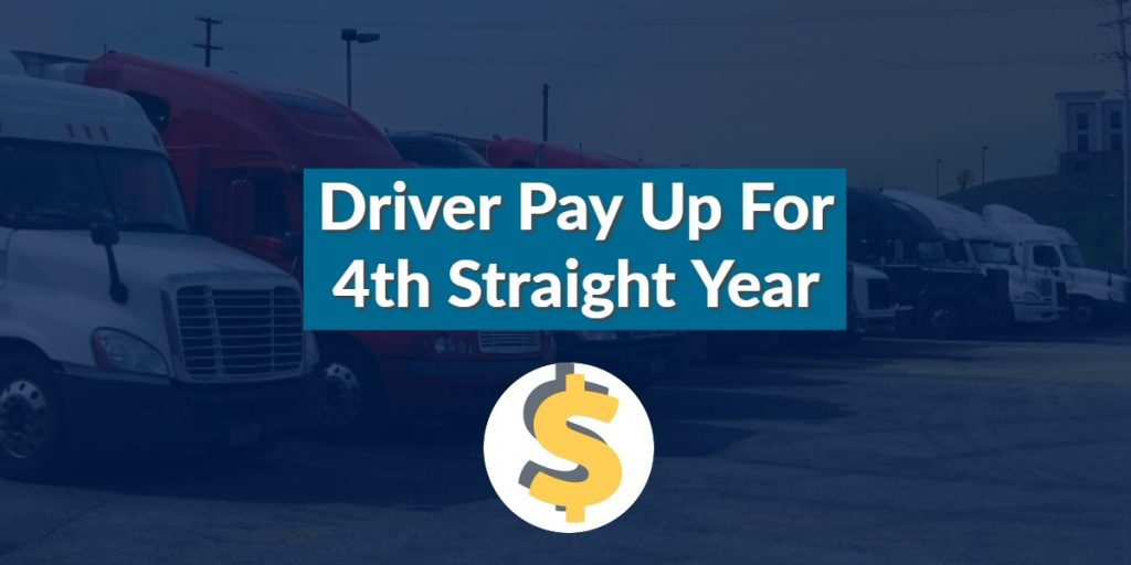 Driver Pay Up For 4th Straight Year