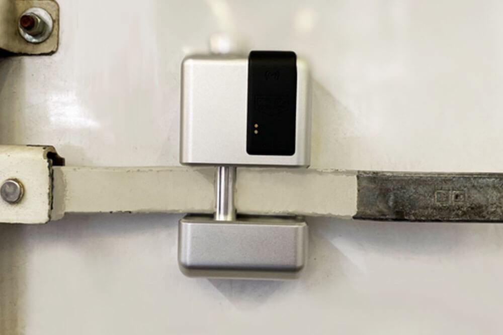 Close up of a smart lock