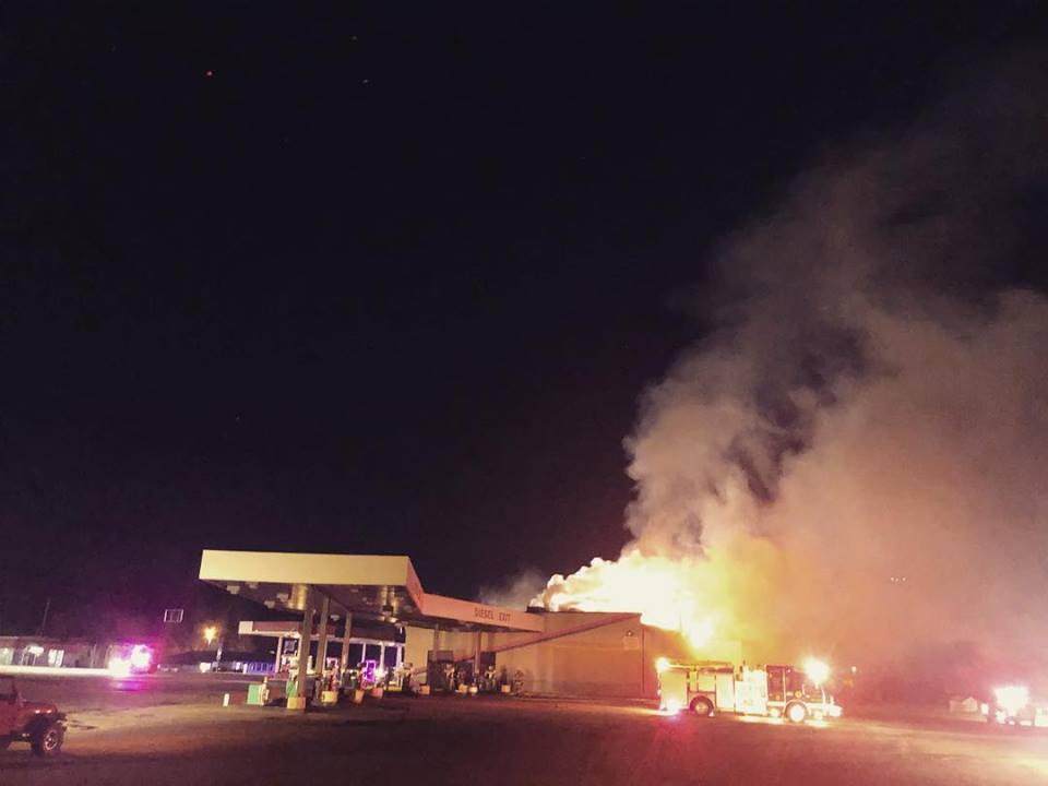 Mom-And-Pop Truck Stop And Diner Burns To The Ground
