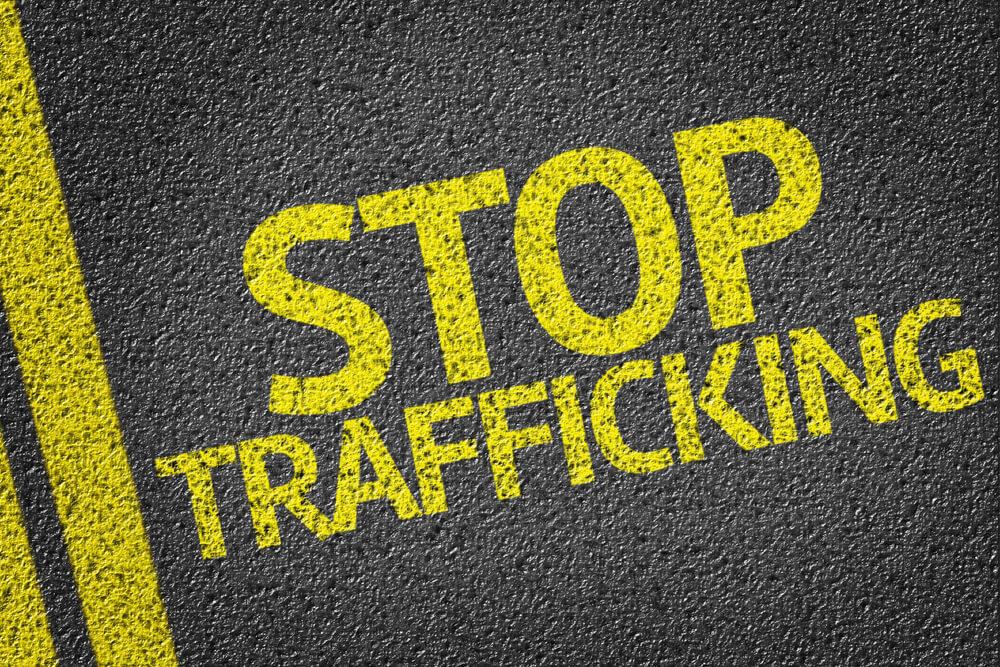 stop human trafficking graffiti